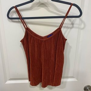Shimmer sparkly tank top